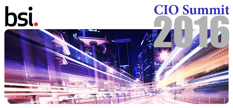 BSI CIO Summit 2016 – Apr 19
