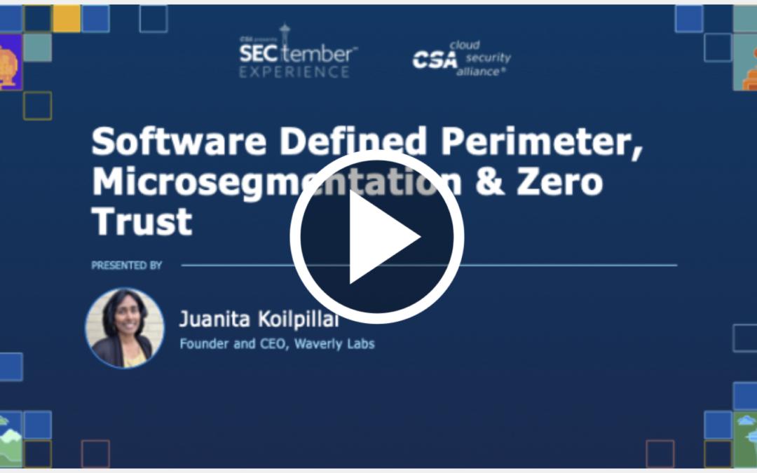 Cloud Security Alliance Presents: SECtember 2020 – September 11, 2020